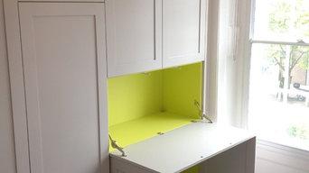 Kentish Town fitted wardrobe/desk