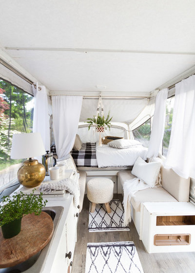 Scandinavian Zevy Joy Pop UP. A Used Pop Up Camper  a Tight Budget and Chic Scandinavian Style