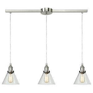 Industrial 3 Light Kitchen Island Lighting Glass Pendant Lights Globe Bn Industrial Kitchen Island Lighting By Claxy Houzz