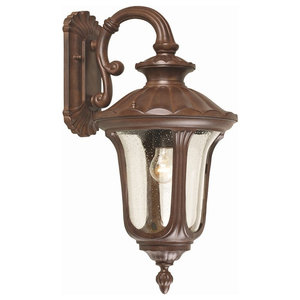 Medium Outdoor Wall Down Lantern With Textured Glass
