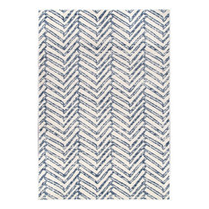 nuLOOM Rosanne Geometric Casuals Area Rug, Blue, 4'x6'