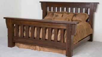 Rustic Barnwood Timberwood Bed