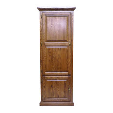 Traditional Corner Bookcase With Wood Doors