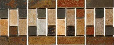 Natural Rustic Slate Mosaic - Tile