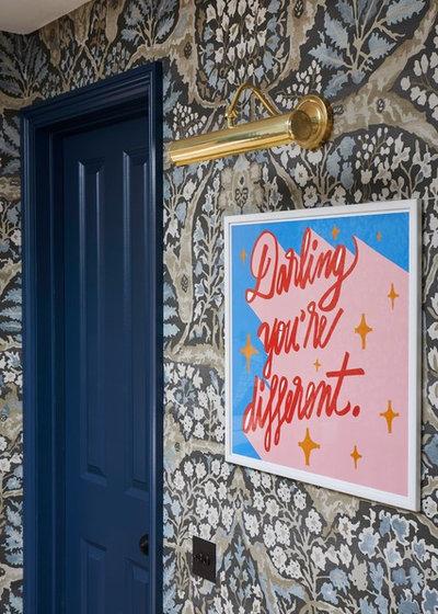 Eclectic Hallway & Landing by Sarah Brown Interiors