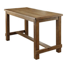 Furniture of America Sinuata Wood Counter Height Dining Table in Natural Tone