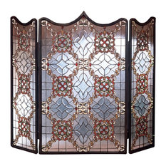 "Meyda 44""x36"" Victorian Beveled Fireplace Screen"