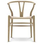 Carl Hansen & Son - Wegner CH24 Wishbone Chair, Oak, Soap, Natural Seat - Wegner Wishbone Chair / CH24 Chair