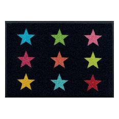 Akzente Wolf - Colourful Stars Easy-Clean Door Mat - Door Mats