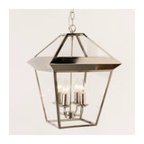 Roxburg Nickel Lantern Pendant Large