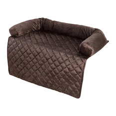 PETMAKER Furniture Protector Pet Cover With Bolster, Brown, 35 X 35