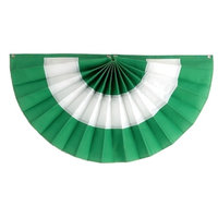 "3-Stripe St. Patrick's Day Pleated Fan, Nylon, 24""x48"""
