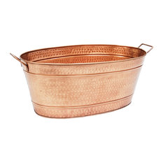 ACHLA Designs - Large Oval Steel Tub, Copper - Decorative Objects and Figurines