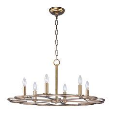 "Maxim Lighting 14""x31.5"" Helix 6-Light Chandelier, Bronze Fusion"