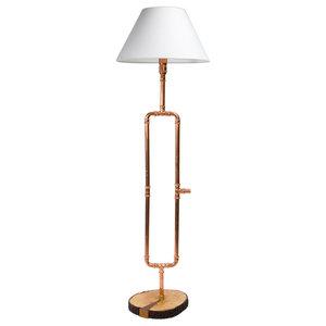 Pipe Floor Lamp, Copper