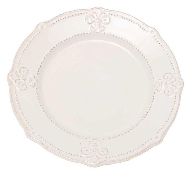 Fleur De Lis Dinner Plates | Home design ideas