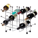 Oenophilia - Fusion 15-Bottle Wine Rack - The spare modernity of this unpretentious rack makes it a brilliant choice for kitchen wine storage.