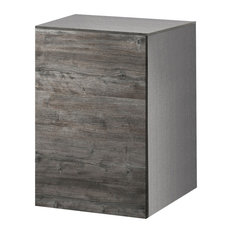 Roma Floating Bathroom Vanity Cabinet, Rustic Wood
