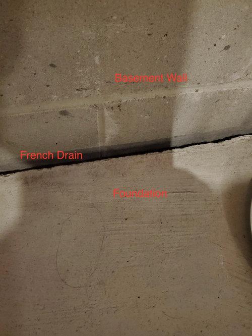 Framing Around French Drain In Basement, Vinyl Plank Flooring Basement Drain