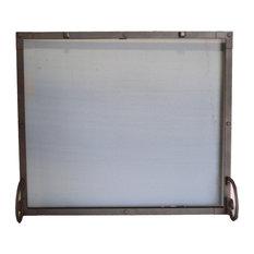 "Freestanding Rectangular Screen, Hammered Black Copper Finish, 38""x1""x32"""