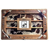 Wall Mount Western Display Case, Brindle