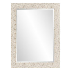 Maui Tiled Mirror, Mother of Pearl Tile
