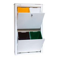 Hahn Cubek Recycling Bin, 4 Bins