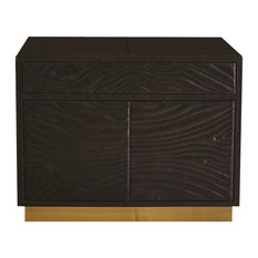 Forest Nightstand Charcoal Leather