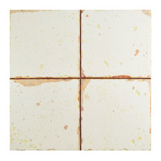 "13""x13"" Artesano Ceramic Floor/Wall Tiles, Set of 10, Blanco"