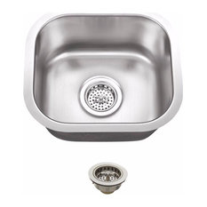 "Undermount 14.5"" Single Bowl 18-Gauge Stainless Steel Bar Sink"