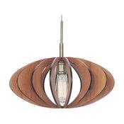 Woodbridge Lighting 14023CBR-W1D1CH Canopy 1 Light Pendant