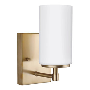 Sea Gull Lighting 1-Light Wall/Sconce, Satin Bronze