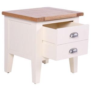 1-Drawer Lamp Table, Cream