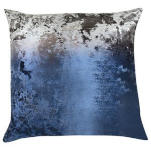 Ombre Twilight on Crushed Velvet Cobble Pillow, 61x61cm