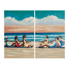 """""""Swim Competition Diptych"""" Wall Art, 2-Piece Set, Multicolor"""
