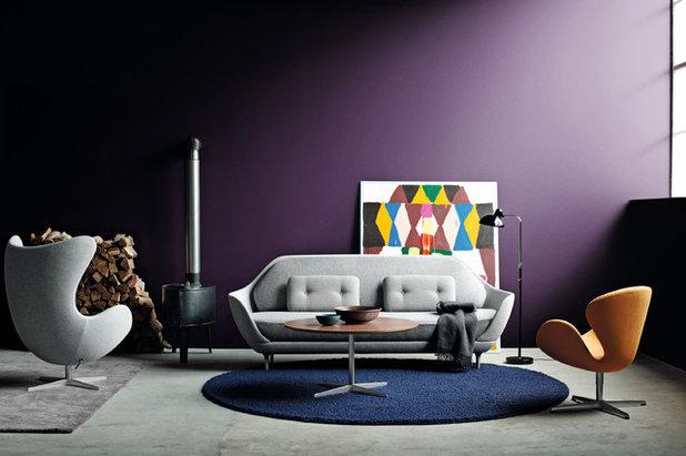 Pareti Viola E Lilla : Colpo di colore modi per usare il viola in soggiorno