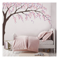 Weeping Willow Tree Decal With Cherry Blossoms, Scheme C, Standard