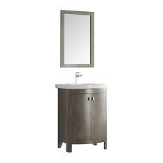 Fresca Greenwich 24-inch Antique Silver Traditional Bathroom Vanity