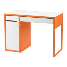 - MICKE Desk - white/orange - IKEA - Kids Desks and Desk Sets