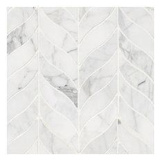 Calacatta Cressa Leaf Pattern Honed, Marble,