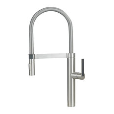 Blanco 441332 Culina 1-Handle High-Arc Kitchen Faucet, Satin Nickel