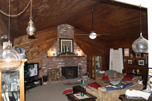 Family Room Wood Walls And Ceiling