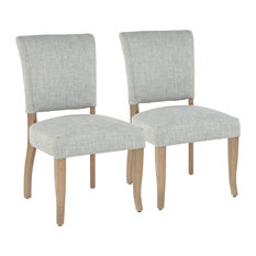 LumiSource Rita  Dining Chair Ash Brown Wooden Legs And Seafoam Green Set Of 2