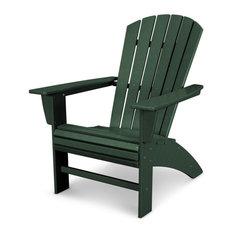 Nautical Curveback Adirondack Chair, Green