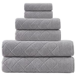 Gracious 6-Piece Towel Set, Silver