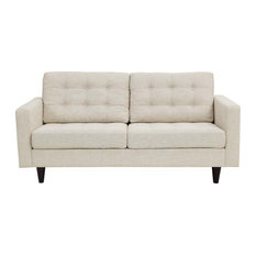 Dylan Upholstered Fabric Love Seat/Beige