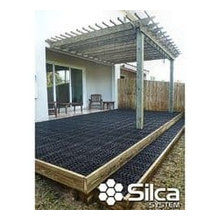 Convert your wood deck to a stone patio with Silca System.