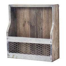 4 Bottle Wood & Metal Tabletop or Wall Wine Rack