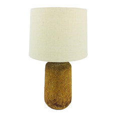 Golden Brown Distressed Lamp With Shade