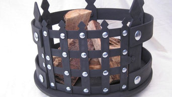 Rustic fire baskets
